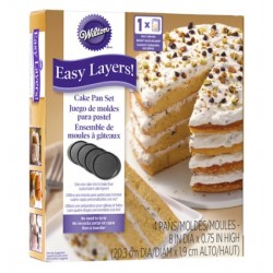 Moldes Easy Layers 20 cm ( 4 u. )