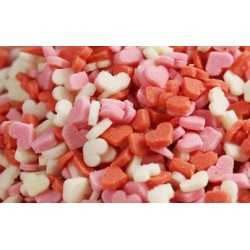 Confeti Mini Corazon 3 Colores ( 600 gr )
